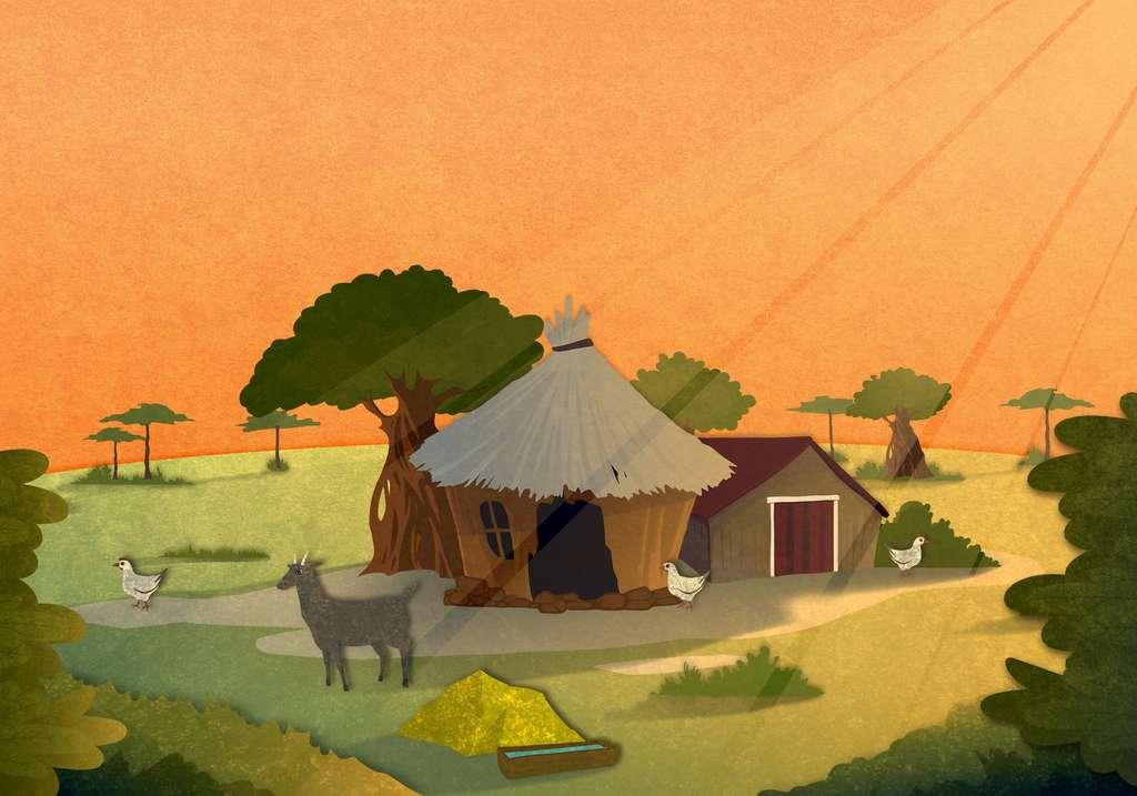 Les premiers fermiers vivaient dans des villages très peuplés, avec une grande promiscuité entre les Hommes et les animaux. © frimufilms, Adobe Stock