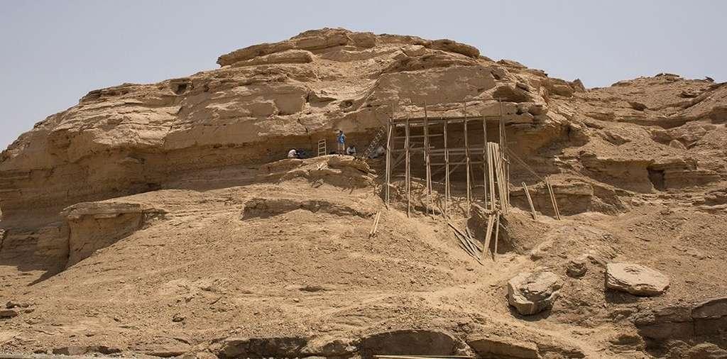 L'un des sites archéologiques de fouilles proches de la ville antique de Nekheb en Égypte. © Yale University, Ministry of Antiquities