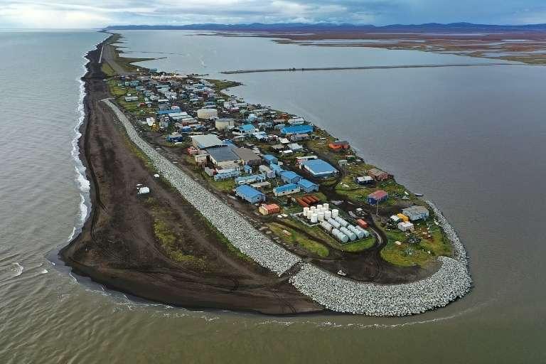 Le village de Kivalina, en Alaska, dans le cercle arctique, le 10 septembre 2019. © Joe Raedle, Getty Images North America, AFP