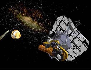 Deep Impact en configuration de croisière, impacteur largué. © JPL/Nasa