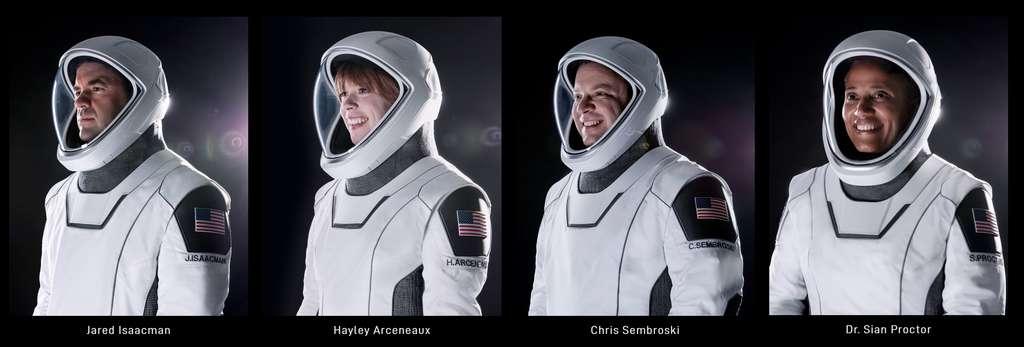 L'équipage de la première mission Inspiration4. © SpaceX