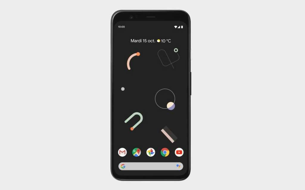 No more notch on the screen.  Good!  © Google