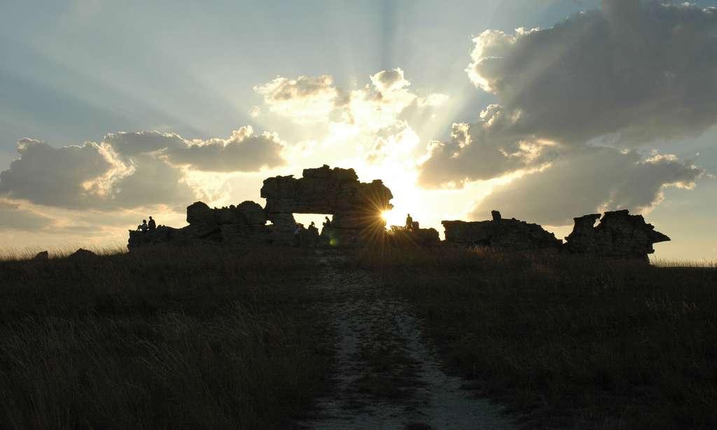 Fenêtre de l'Isalo, au soleil couchant