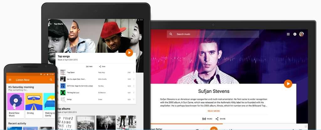Google Play Music propose en exclusivité toutes les vidéos accessibles avec YouTube Premium. © Google