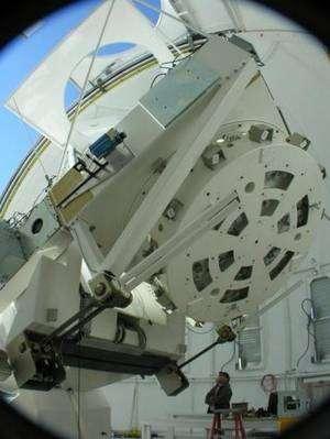 Le New Solar Telescope est entré en service au cours de l'Année Mondiale de l'Astronomie. Crédit BBSO