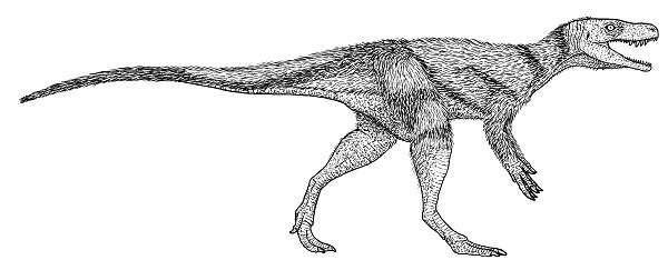 Une reconstitution de Chindesaurus. © Jeffrey Martz, National Park Service
