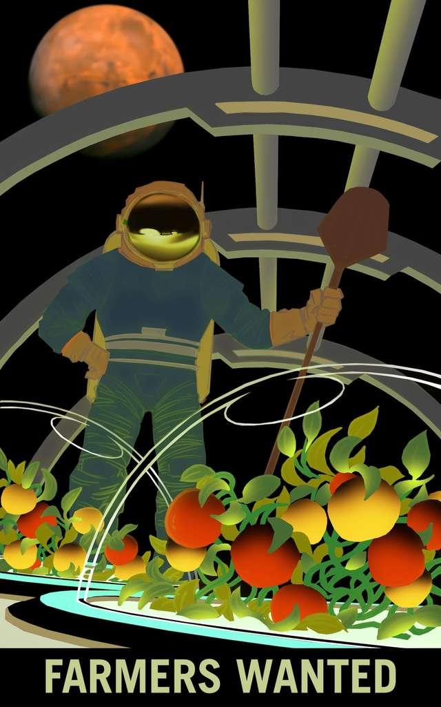 Faudra-t-il des fermiers (farmers) sur Mars, ou autour de la planète ? © Nasa, KSC
