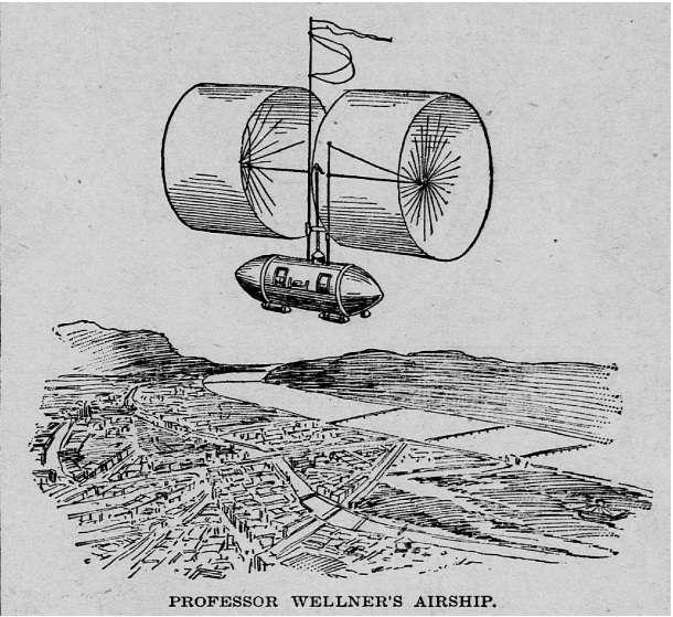 La machine volante du professeur Wellner