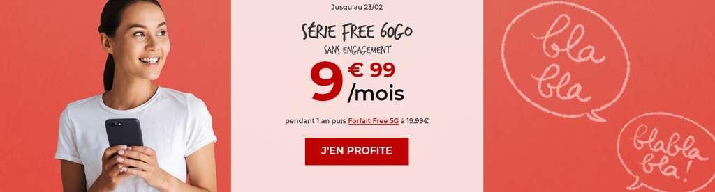 Forfait 60 Go à seulement 9,99€ /mois © Free