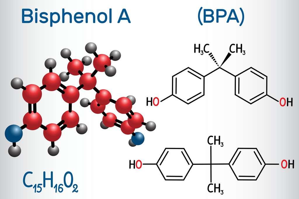Le BPA appartient à la famille des bisphénols, caractérisée par la présence de deux groupes phénols (-OH). © bacsica, Fotolia