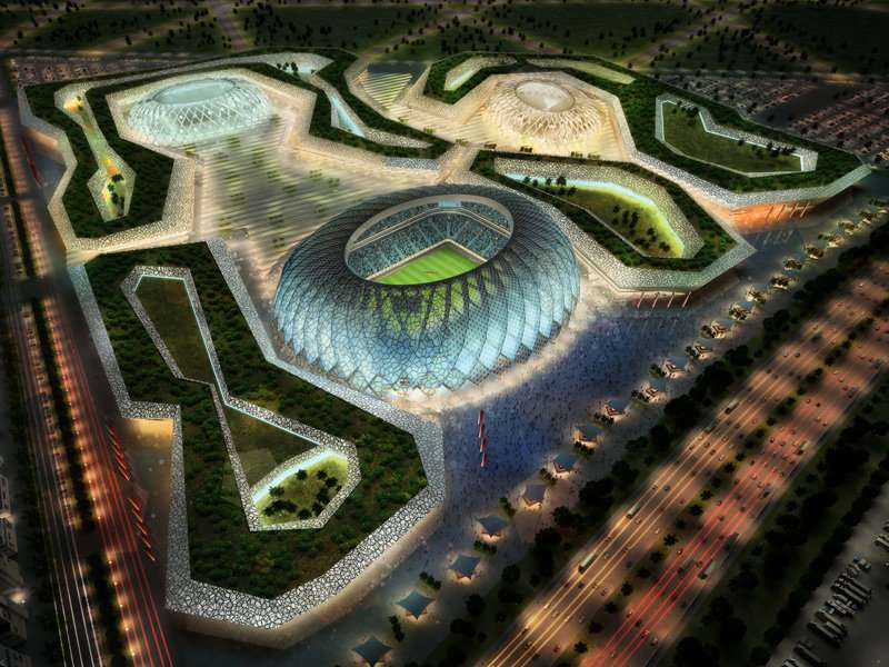 L'Al-Wakrah Stadium est l'un des stades qui a fait l'objet d'une étude en soufflerie à partir d'une réplique fabriquée par impression 3D. © Supreme Committee for Delivery & Legacy Technical Delivery Office, Fifa