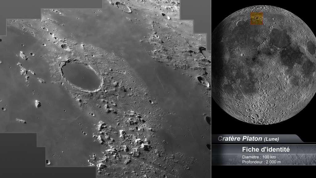Le cratère Platon sur la Lune
