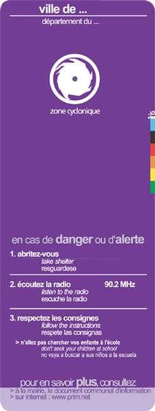 Prévention du risque cyclonique. © DR