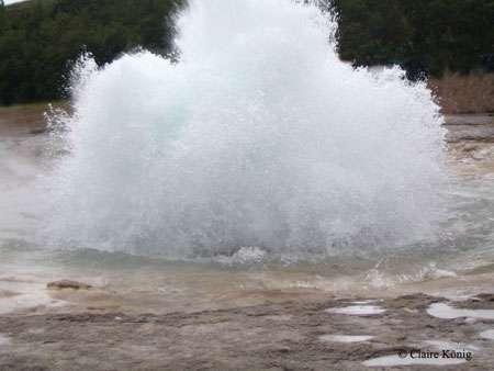 Un geyser en action. © Claire König