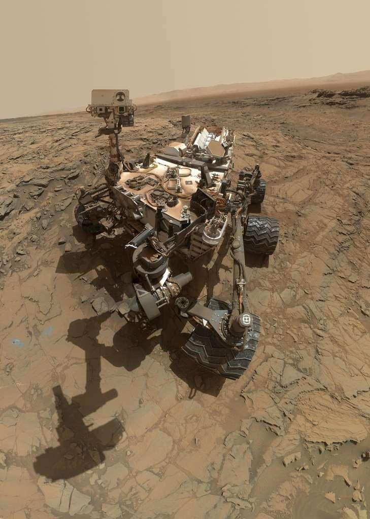 Selfie de Curiosity à « Big Sky »