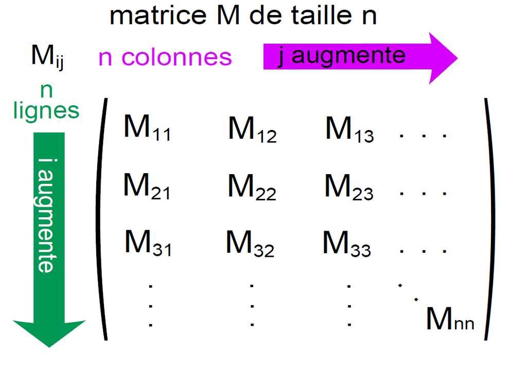 Figure 1 - Une matrice carrée. De telles matrices sont abondantes dans tous les domaines. © Julien Riposo - Tous droits réservés
