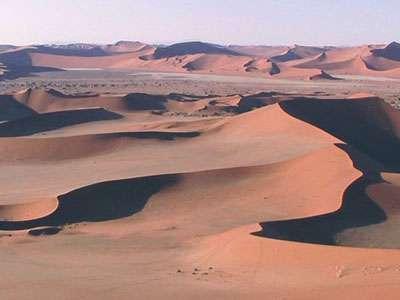 Le Sperrgebiet (désert du Namib). © DR