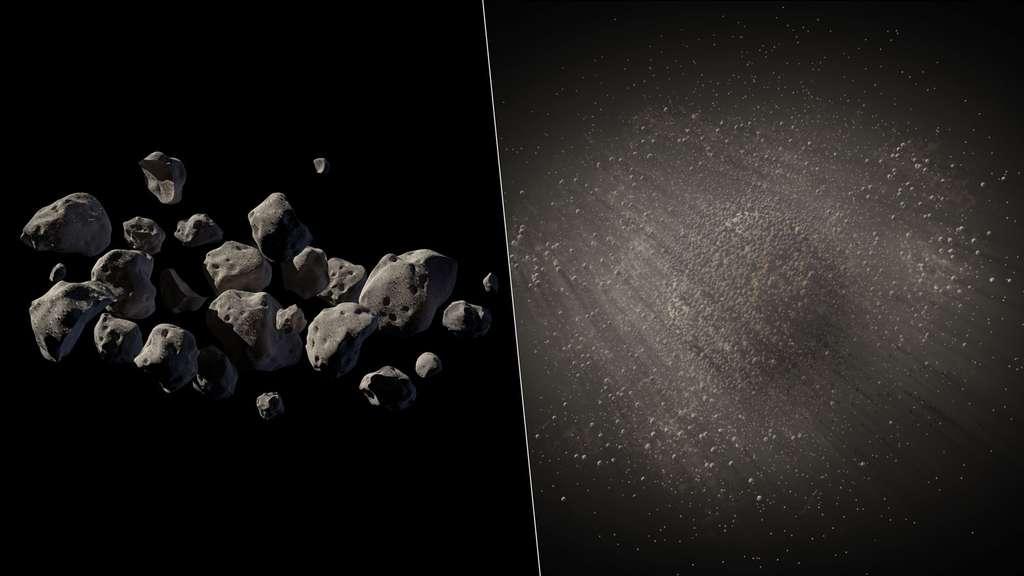 Formes et structures de l'astéroïde 2011 MD déduites des observations (vue d'artiste). © Nasa/JPL