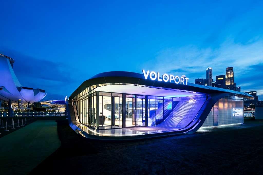 Le VoloPort sera installé sur les toits des bâtiments au cœur de grands centres-villes. © Volocopter
