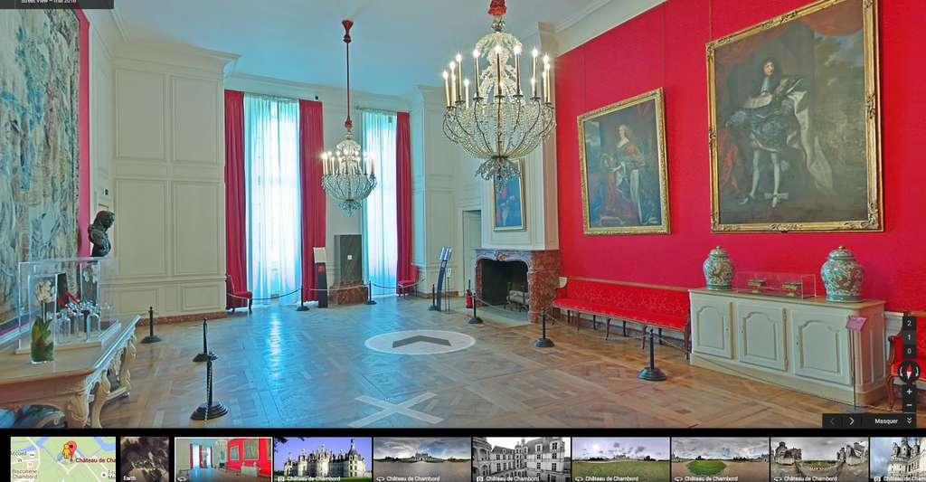 Une visite au château de Chambord, réelle ou virtuelle, est une expérience à vivre… © Google