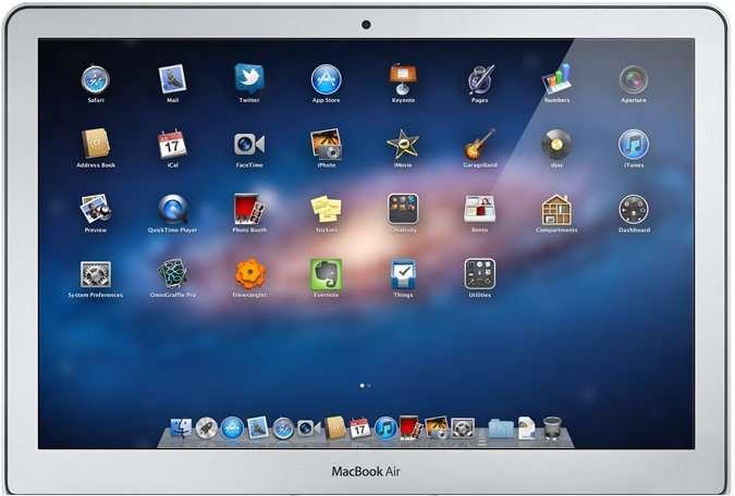 LaunchPad : un mode de fonctionnement plein écran sur le principe de l'interface de l'iPhone ou de l'iPad. © Apple