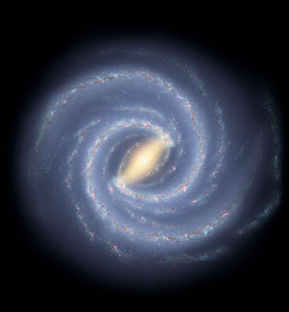 Illustration de la Voie lactée. © Nasa, JPL-Caltech, R. Hurt (SSC/Caltech)