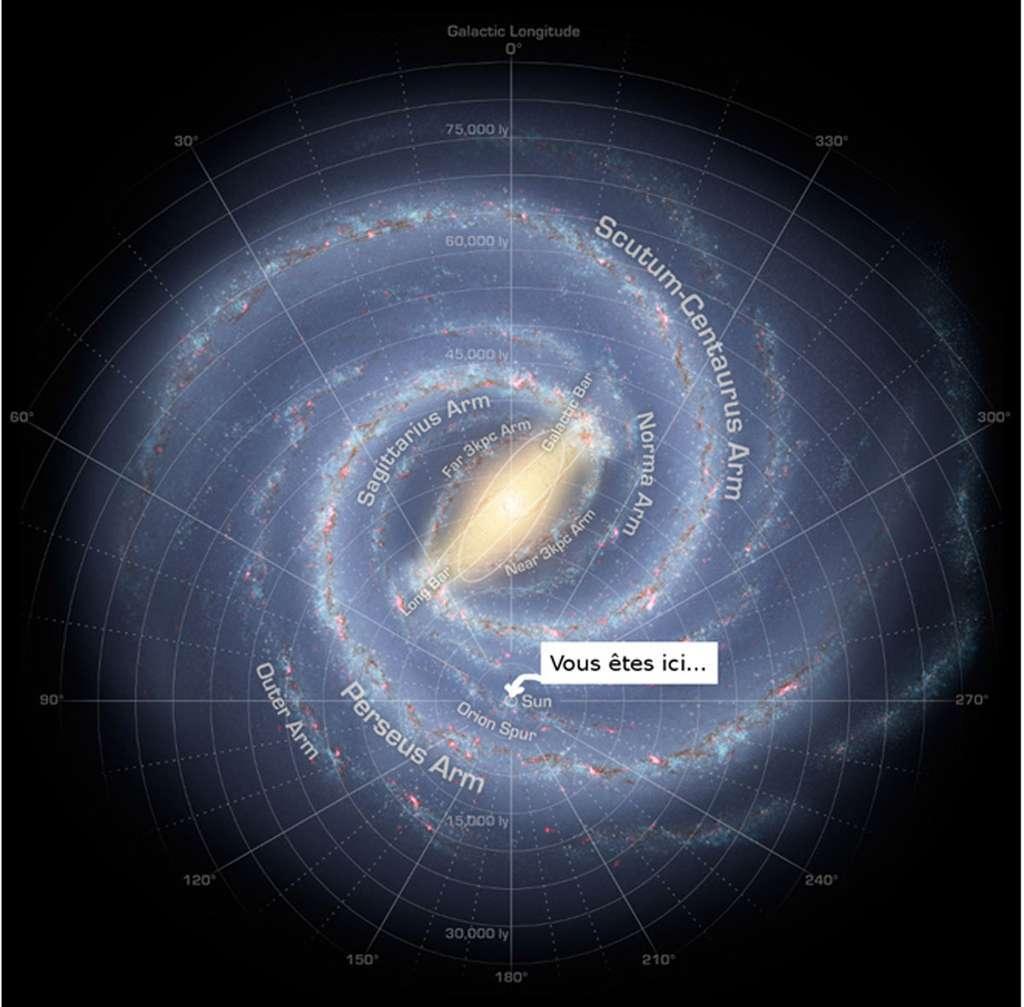 Une image en spirale de la Voie lactée, avec votre localisation. © Akwa, cc by nc 2.0