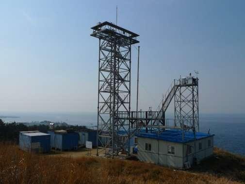 L'un des observatoires permettant de mesurer la concentration de carbone 14 dans la suie atmosphérique. Celui-ci est situé sur l'île Jeju, dans le sud-est de la mer Jaune. © Elena Kirillova