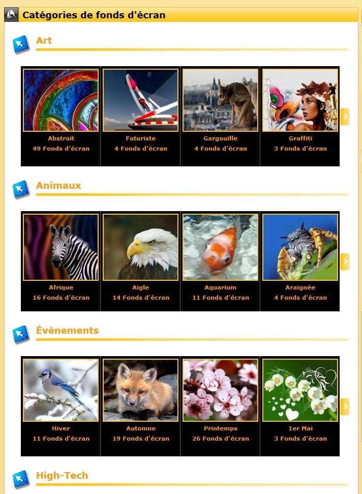 Chaque catégorie thématique offre une diversité de fonds d'écran, il y en a pour tous les goûts. © Futura-Sciences