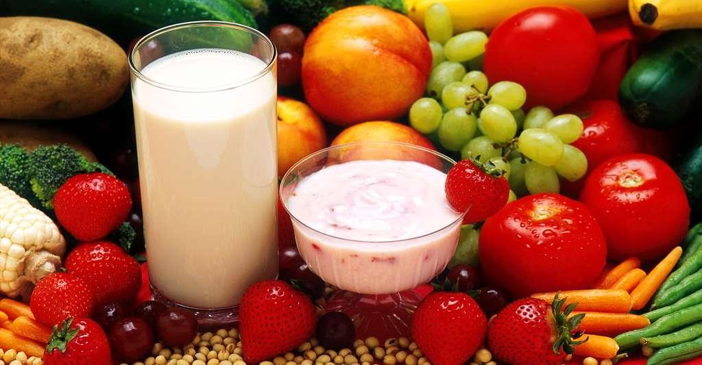 Variété de fruits et légumes pour une santé parfaite. © Peggy Greb - USDA ARS - Domaine public