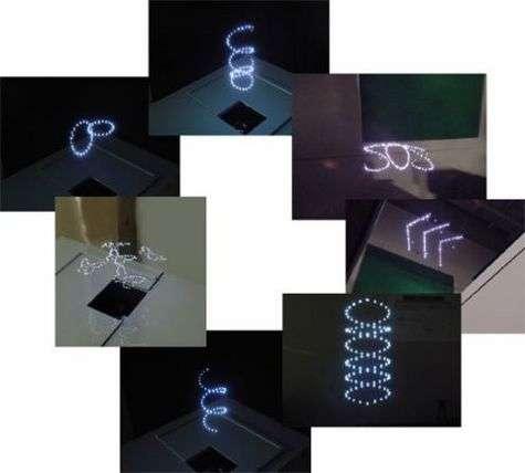 Des petites bulles de plasma, créées à l'aide d'un laser, transforment l'air ambiant en écran à trois dimensions.