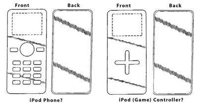 Les futurs designs des iPod ? (Crédits : AppleInsider)