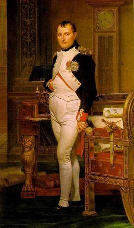 Napoléon en 1812 par David. © DR