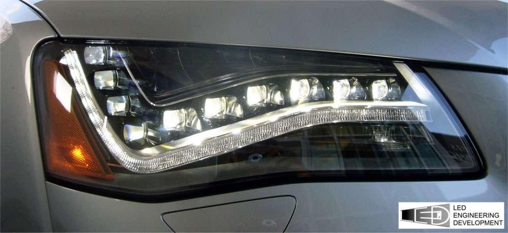 L'éclairage avant de voiture nécessite des Leds de flux important, car le faisceau désiré est très précis. © DR