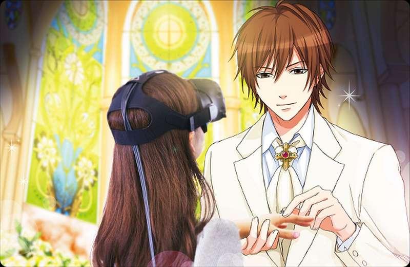 Le mariage en réalité virtuelle avec un personnage de dessin animé, c'est possible à Tokyo ! © Voltage
