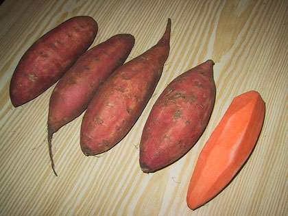 La patate douce peut se consommer en purée. © Jerôme Sautret, GNU, Free Documentation License