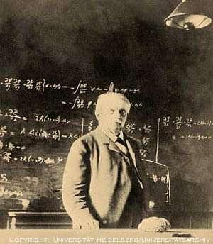 Helmholtz enseignant à l'Universitée de Heidelberg