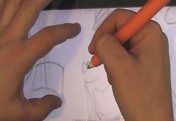 Sur cette capture issue de la vidéo de démonstration produite par Microsoft, on voit que la main droite peut reposer en position d'écriture sur l'écran tactile sans que celui-ci réagisse tandis que la main gauche peut zoomer sur une portion. Ce scénario illustre les nombreuses possibilités d'interaction entre un stylet et un écran tactile qu'offre ce nouveau concept. © Microsoft Research