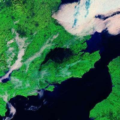 Image du nuage de fumée fournie par l'instrument AATSR (Advanced Along Track Scanning Radiometer) du satellite Envisat (Crédits : ESA)