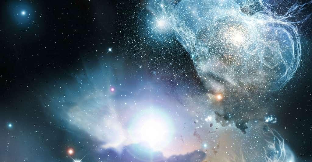 Quelle est la taille d'un quasar ? Quelle est son énergie ? sa luminosité ? Ici, différentes formes de quasars. © Wolfram Freudlingn, DP
