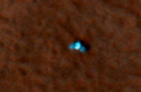 Phoenix sur le sol de Mars. Crédit : Nasa/JPL-Caltech/University of Arizona