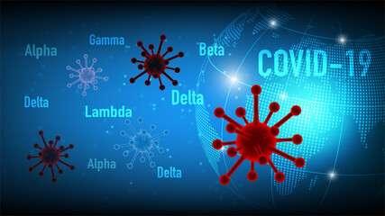 Deux nouveaux variants (Mu et C.1.2.) s'ajoutent aux variants du coronavirus déjà sous haute surveillance. © flyalone, Adobe Stock