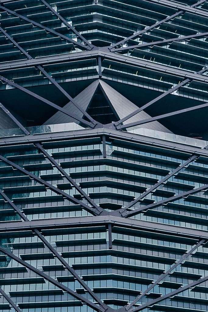 La Torre Reforma est composée de 14 groupes de 4 étages, comme autant de bâtiments dans le bâtiment. Chacun d'entre eux dispose d'un jardin intérieur. © Torre Reforma