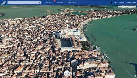 La vue 3D de Venise avec Here de Nokia est impressionnante. Le service de cartographie permet également d'activer une vue en relief prévue pour des lunettes 3D. © Eureka Presse