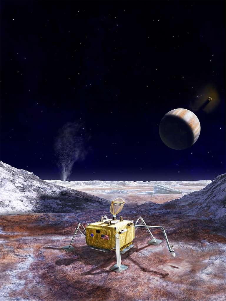 Concept de lander sur la surface d'Europe. © Nasa, JPL-Caltech