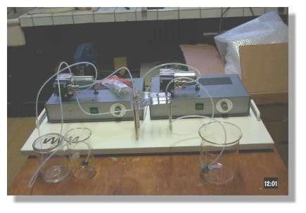 Ce prototype composé de pompes et de micro-réacteurs (voir la figure 3) a été réalisé à l'Institut IMM de Mayence, pour créer des plats nouveaux à partir des formules qui décrivent les systèmes dispersés complexes.
