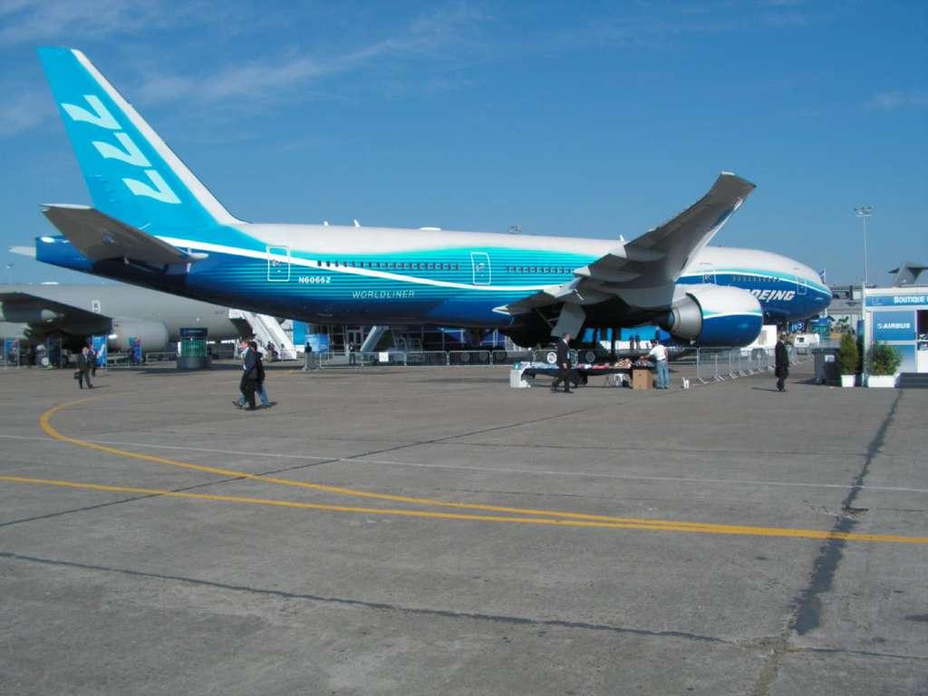 Boeing 777 - Les avions exposes au Salon du Bourget