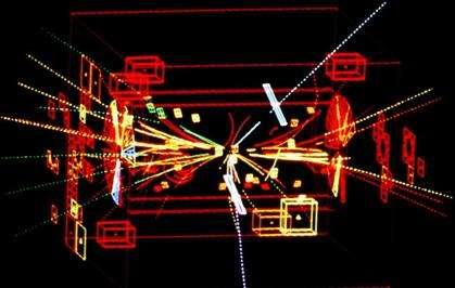Désintégration de Z0 (expérience UA2, CERN). © CERN
