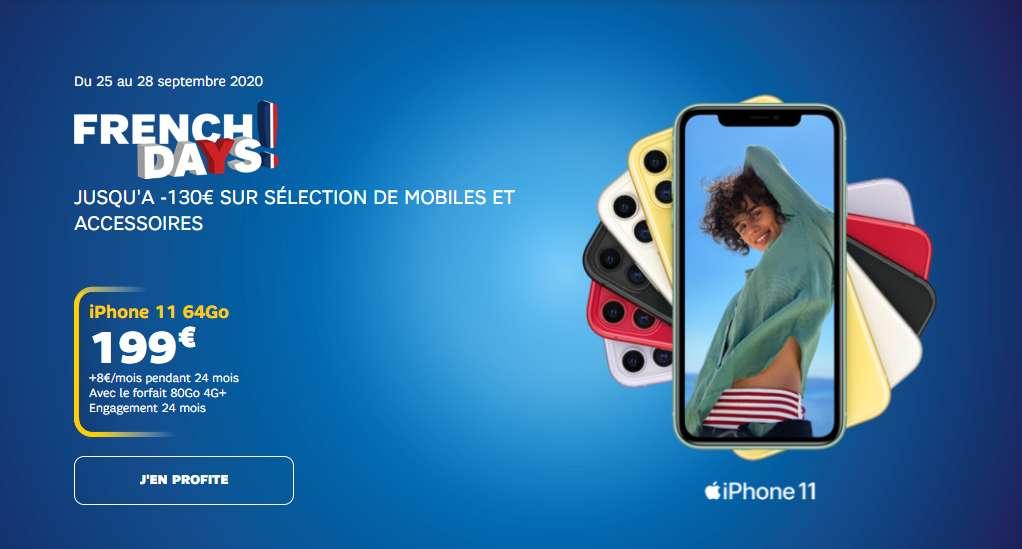 Profitez des promos French Days sur une sélection de smartphones © SFR