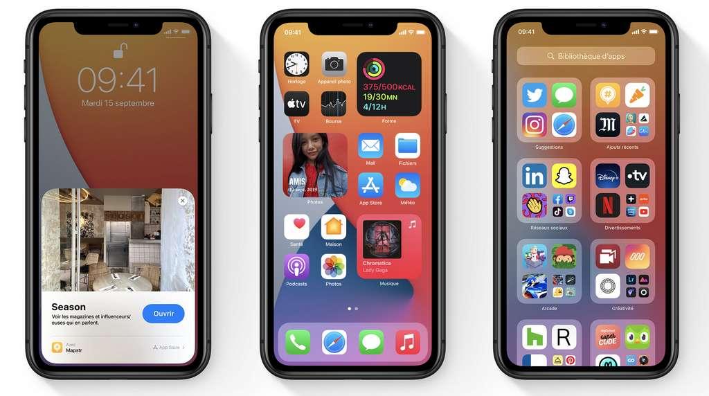 iOS 14, la dernière version du système mobile d'Apple © Apple